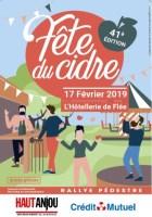 affiche fête du cidre 2019, Hotelelrie de Flée
